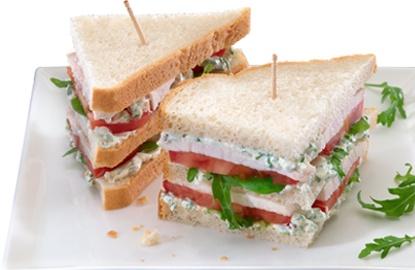Sandwich met kipfilet en Philadelphia