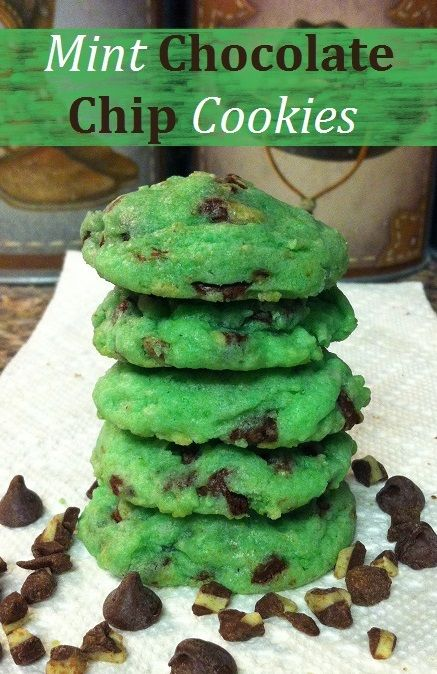 ... | Pinterest | Mint Chocolate, Mint Chocolate Chips and Chip Cookies
