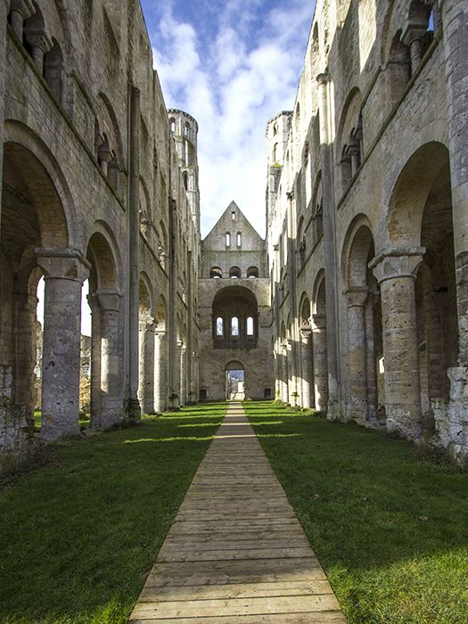 Jumieges abbey ruins in Normandy, France near Rouen. Victor Hugo called them…