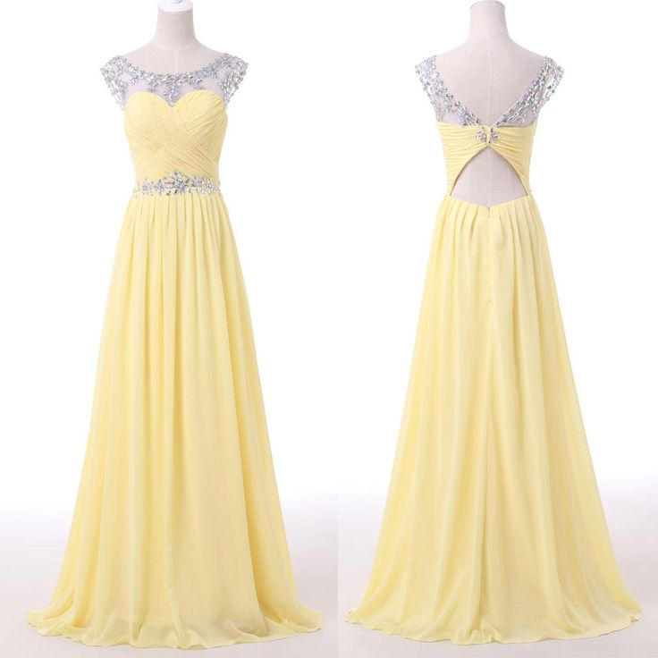 Yellow Evening Gowns Best 25+ Yellow formal...