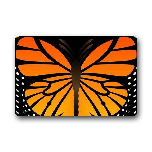 Custom Machine-washable Door Mat Monarch Butterfly Indoor...