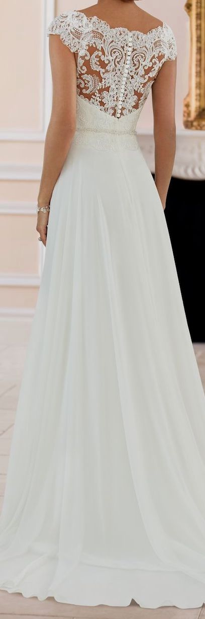 Lace wedding dress. Ignore the future husband, for now lets focus on the bride w…