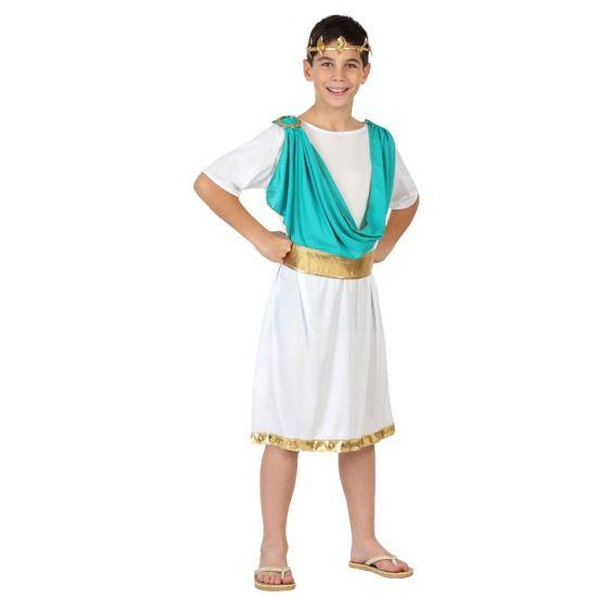 Romeinen kostuum voor kinderen. Romeinse toga kostuum voor kinderen, inclusief hoofdband, sjerp en riem. In verschillende maten verkrijgbaar. Carnavalskleding 2015 #carnaval