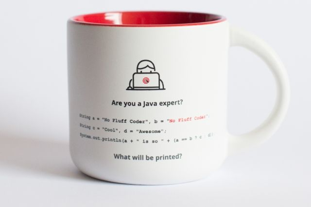 Original cup with a riddle for Java Experts. Perfect as a gift. Available at our on-line store with other Unique products for whole IT Family.