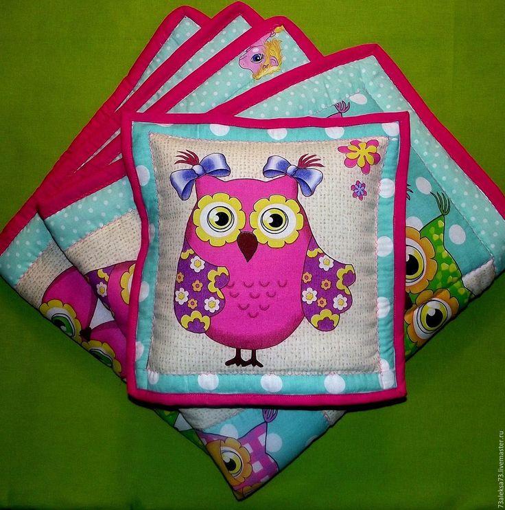 """Купить Одеяло с подушкой """"Розовые совушки"""" - розовый, салатовый, мятный, на выписку, детский комплект"""