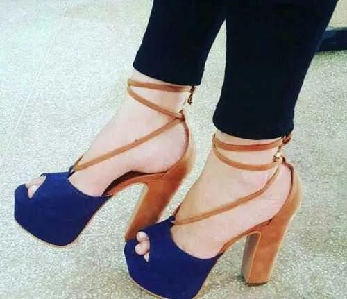 sapato feminino sandália salto alto de amarrar