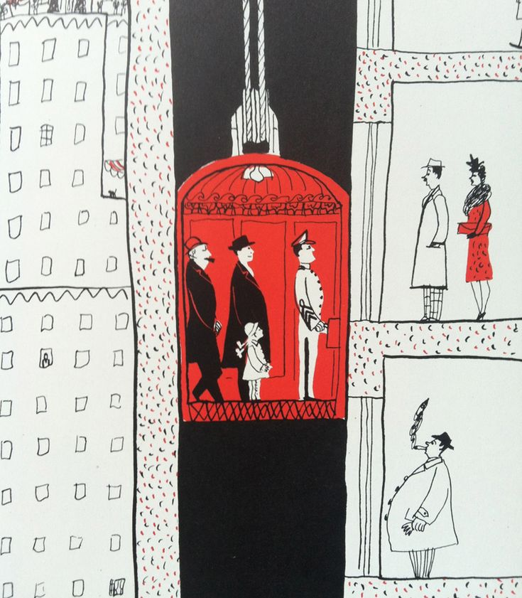 Elevator City Image  Ilustración de Roger Duvoisin.