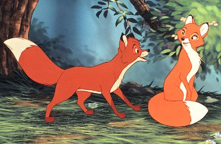 The Fox and the Hound Todd and Vixey