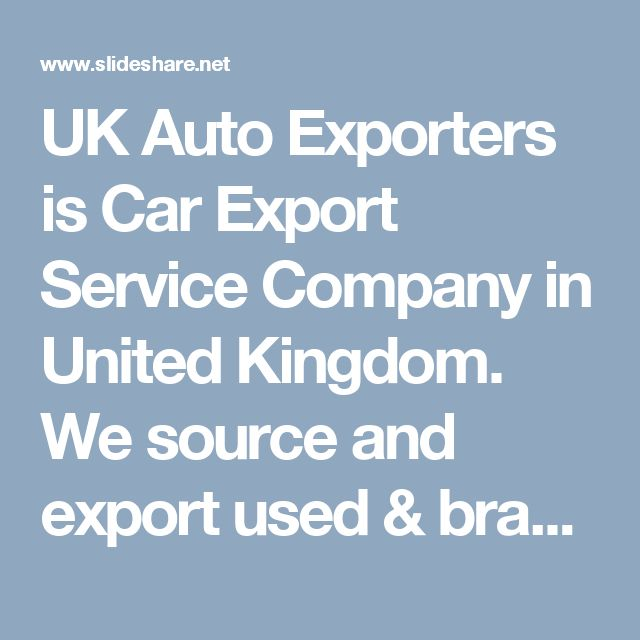 UK Auto Exporters is Car Export Service Company in United Kingdom. We source and export used & brand new UK & German vehicles and car spare parts worldwide. We supply and ship all kind of used and dealer only auto spare parts for Land Rover SUVs, including Range Rover, Range Rover Sport, Range Rover Evoque, Discovery Sport & Defender from UK. If you want to know How to Import a vehicle or used car parts from UK, please contact UkAutoExporters.com