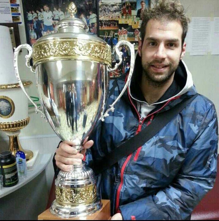 Dragan Travica con la Supercoppa Russa conquistata ieri insieme al Belgorod