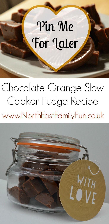 Terry's Chocolate Orange Slow Cooker Fudge Recipe - A Homemade & Edible Christmas Gift