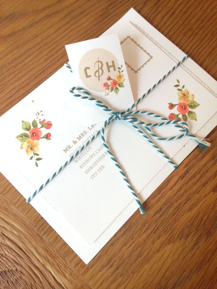 Vintage Wedding #Stationery by Orphans Press www.orphans.co.uk #Print