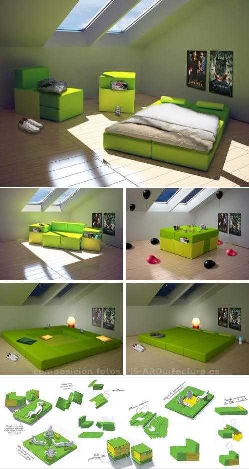 Multiplo: mueble modular convertible