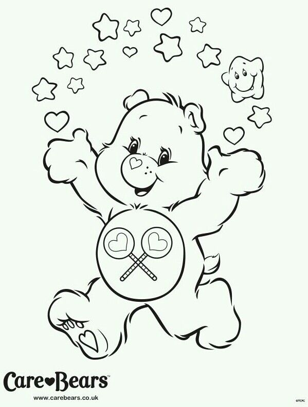 care bear valentines coloring pages - photo#45