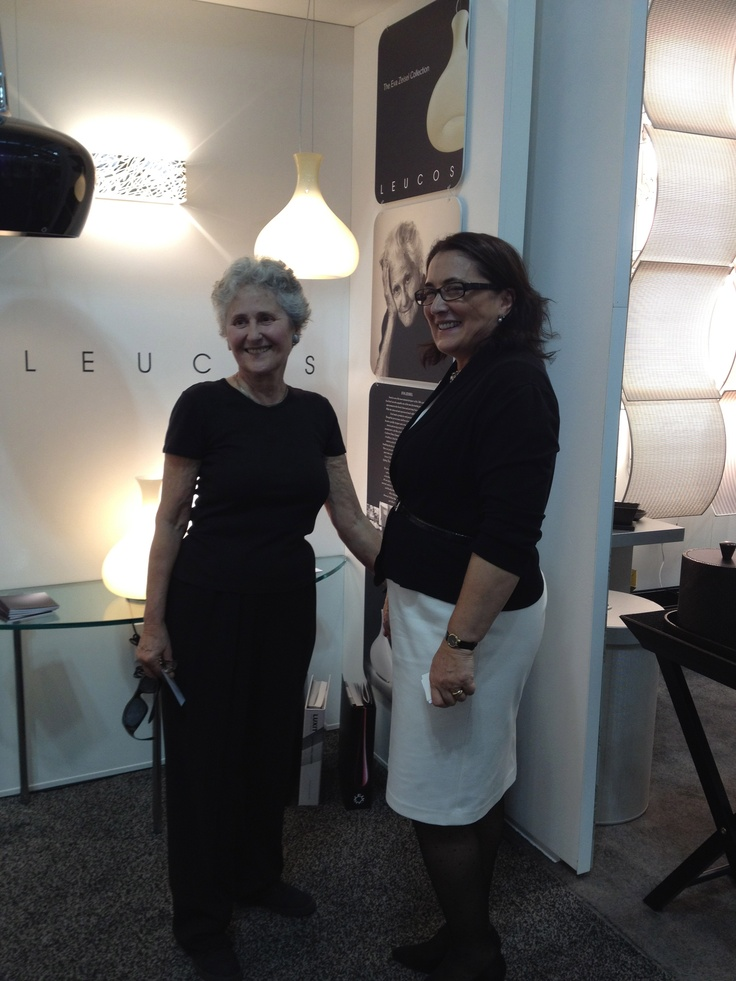 Leucos USA booth at BDNY. Pictured: Jean Richards and Josie Anthony