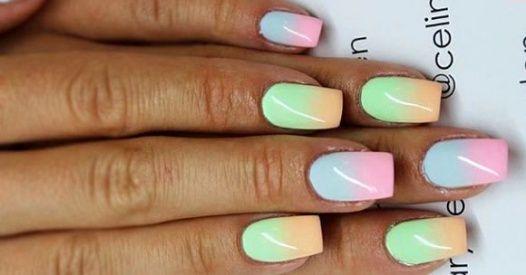 Cieniowany manicure nadal cieszy się dużą popularnością!