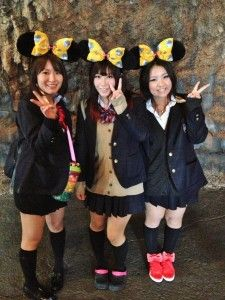 DisneySea Fashion - dressing as the locals do. Mouse Ears Feature Prominently in DisneySea. Tokyo, Japan.