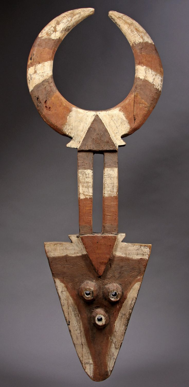 Africa | Bedu mask from the Nafana people of the Ivory Coast | Wood with pigment | ca. prior to 1970