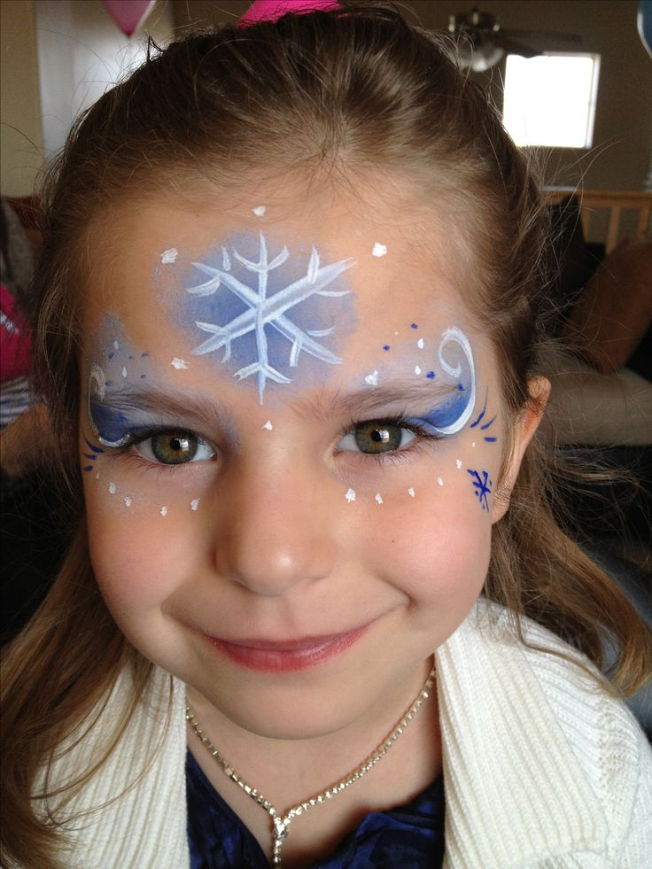 1000 images about face painting on pinterest snowflakes for Frozen face paint