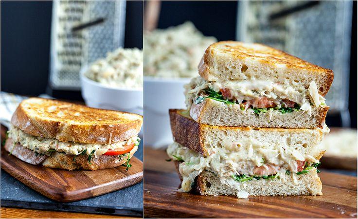"Jackfruit ""Tuna"" Melt Sandwich #vegan"