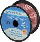 Dynex™ - 50' Spool 18-Gauge Speaker Wire - Gold