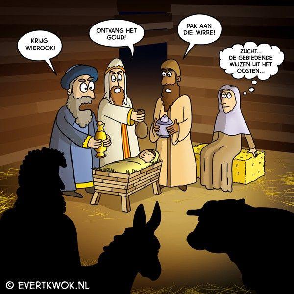 8 cartoons voor een vrolijke kerst -Evert Kwok