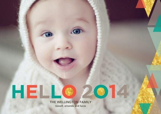 Glowing Hello - New Years Cards in bright jewel tones. #NewYears