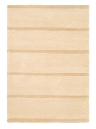 -27,100% OFF Hand Made Pierrot Rug, Ivory, 4' 7