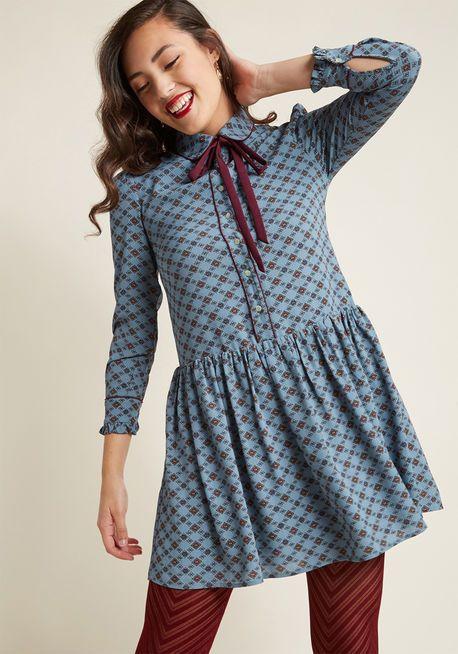 Miss Patina Signature Smile Long Sleeve Dress