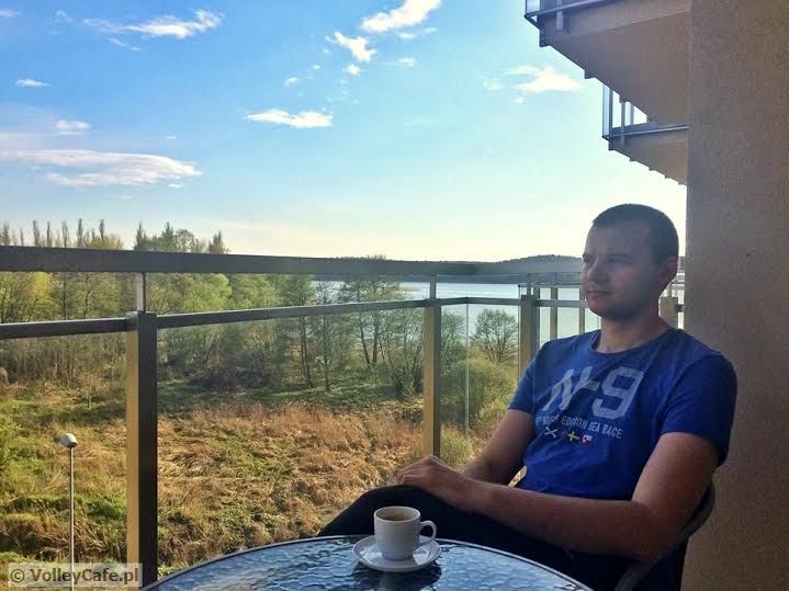 Kamil Sołoducha, coffee and a beautiful landscape! #coffeetime #cafe #kawa #volleyball