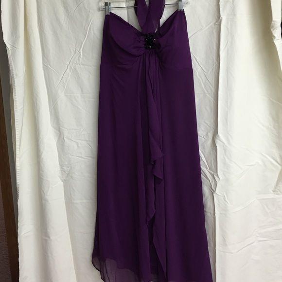 Strapless Lane Bryant halter dress Purple flowy strapless Lane Bryant Dress Lane Bryant Dresses