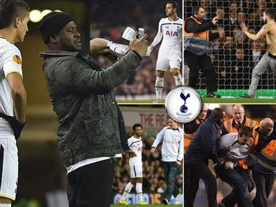 Tottenham fined for pitch invasions