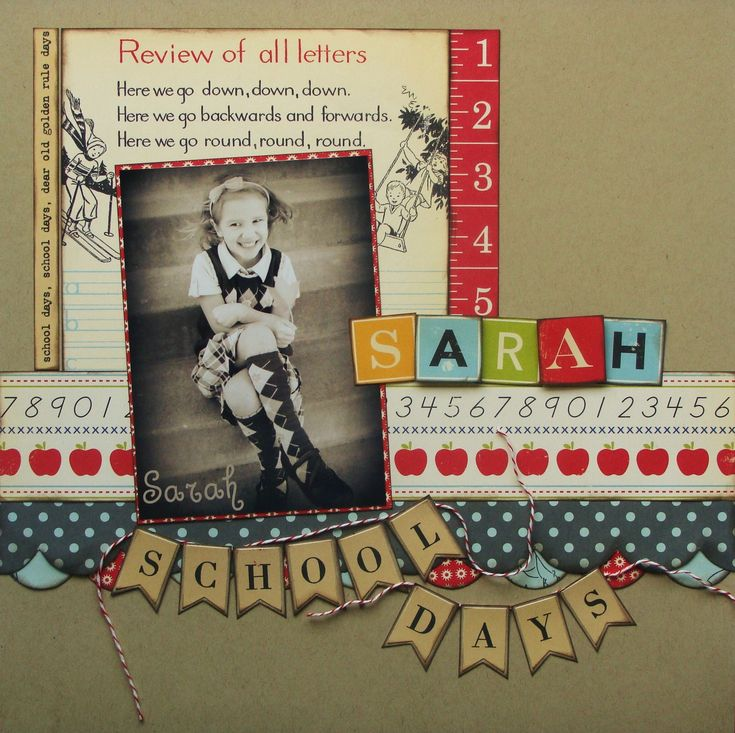 School Days Vintage Look Scrapping Page...