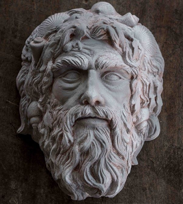 Mask of #Neptune, the ancient Roman water #God (also ...