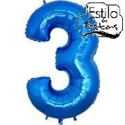 Balão Números Azul Balão Metalizado números Azul Bexiga números Azul