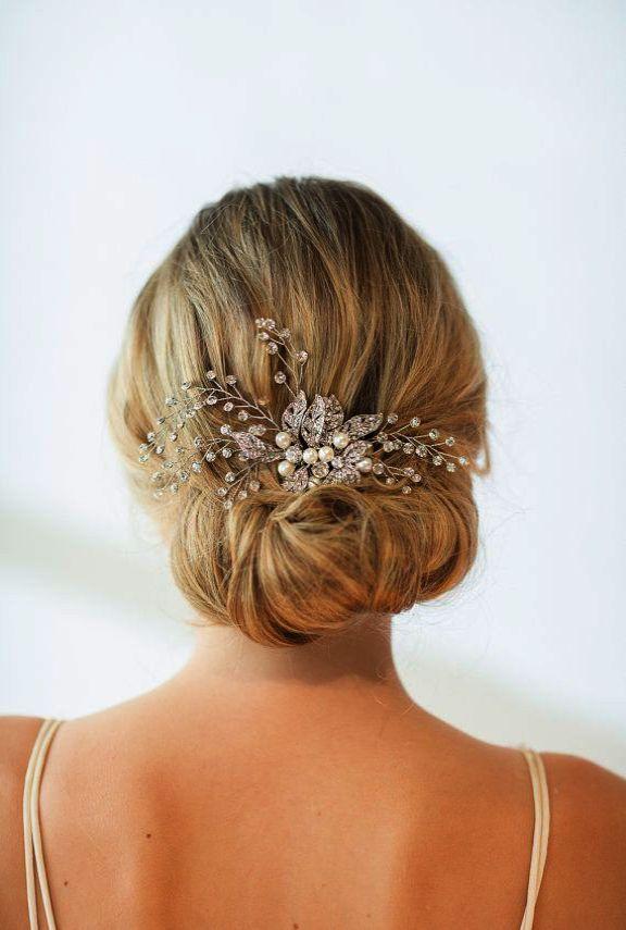 Fairy Moda Bridal Hair Pins Leaf Wedding Hair Accessories Boho Hair Clips With Simulated Pearl Set Of 3 Hair Comb Wedding Wedding Hair Pieces Hair Beads