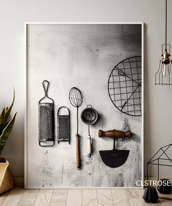 Nordic Modern Style Kitchen Utensils And Appliances Posters Art Canvas Pictures For Living Room Home Decor Painting Unframed In 2020 Kitchen Posters Home Wall Art Home Decor Paintings