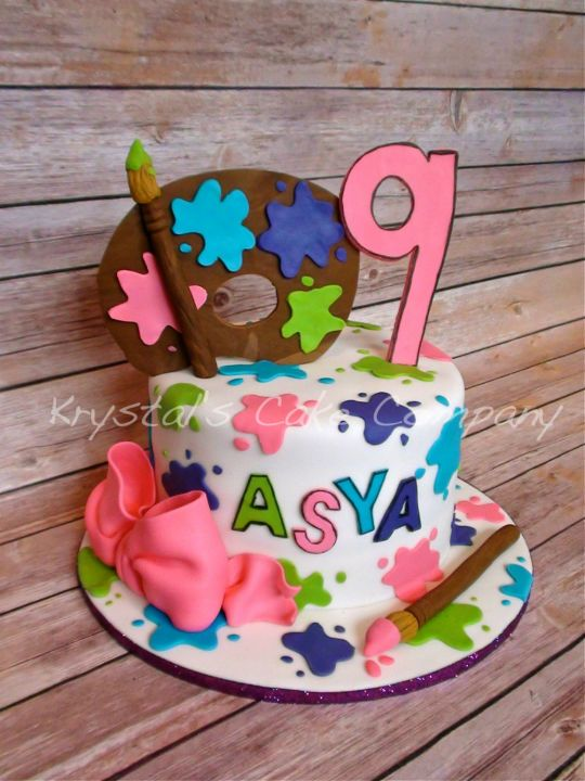 Art Gallery Birthday Cake : Pics For > Art Party Cake Ideas