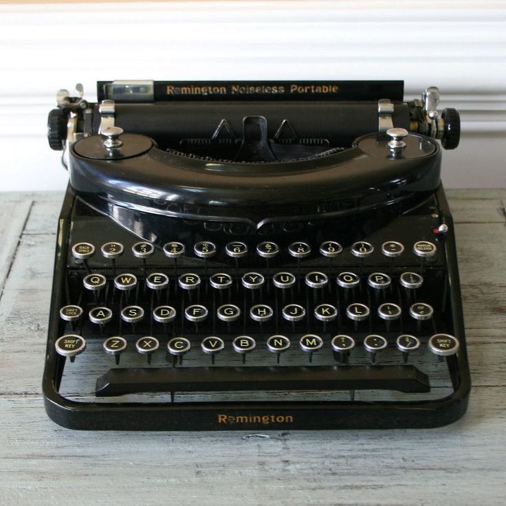 A working vintage typewriter complete with original glass topped keys