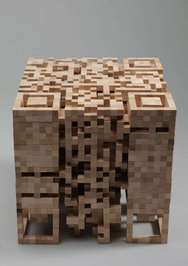 The QR Code Stool Shows the Physical Form of Virtual Codes #seating trendhunter.com
