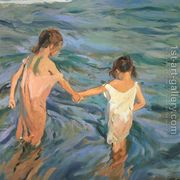 Children in the Sea, 1909  by Joaquin Sorolla y Bastida