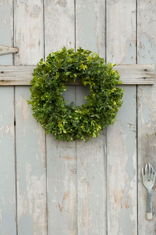 Boxwood wreath tutorial.