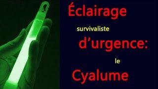 Éclairage survivaliste d'urgence: le cyalume ~ Préparation et survivalisme
