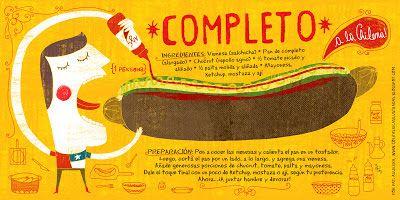 Cositas Ricas Ilustradas por Pati Aguilera: Completo a la chilena