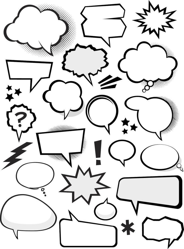 Bocadillos de Cómic en Vector (Vector Comic Bubbles) | Recursos 2D.com