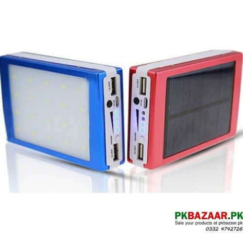 Perfect USB Portable mAh Samsung Solar Mobile Charger with LED Lights for sale in Pakistan