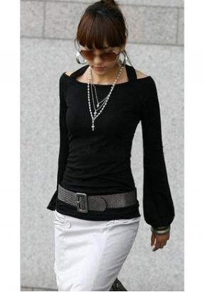 schwarz weiß Longshirt aus DE