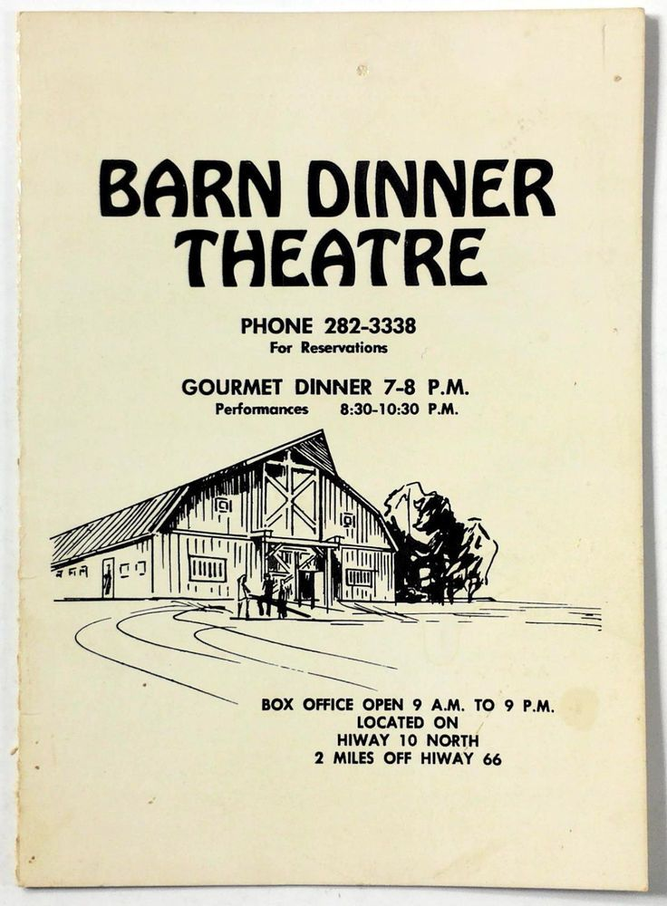 1950's Vintage WINE LIST Drinks Menu BARN DINNER THEATRE Albuquerque New  Mexico