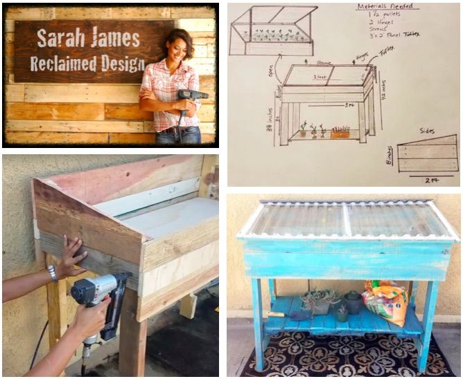 This tutorial by Sarah James from Sarah James Designs will show you how to made a garden greenhouse from one …