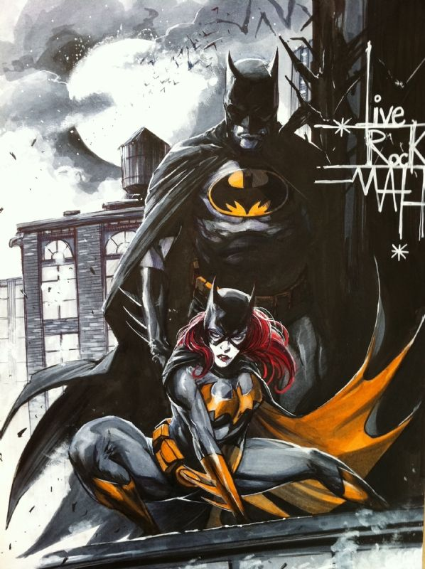 Batman & Batgirl by Mattina Comic Art